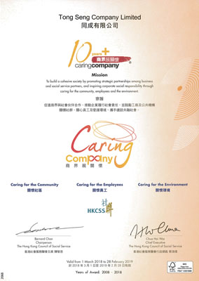Caring Company 10+ Certificate